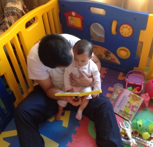 Reading time with Dad
